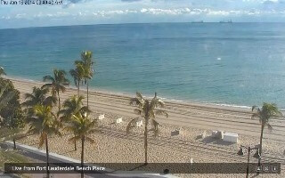current weather conditions on world famous Fort Lauderdale beach